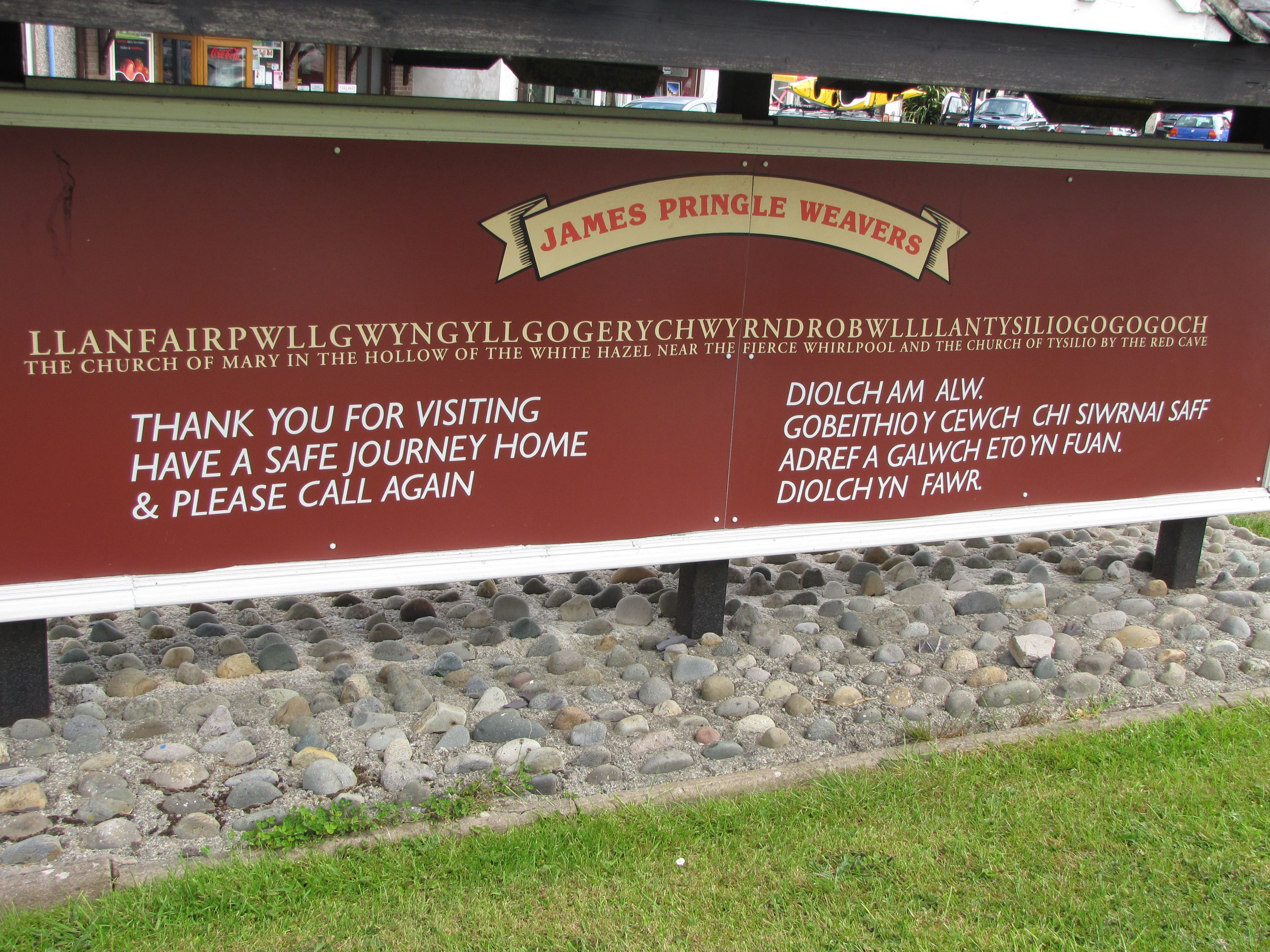 Town with the longest name in the world, Wales.