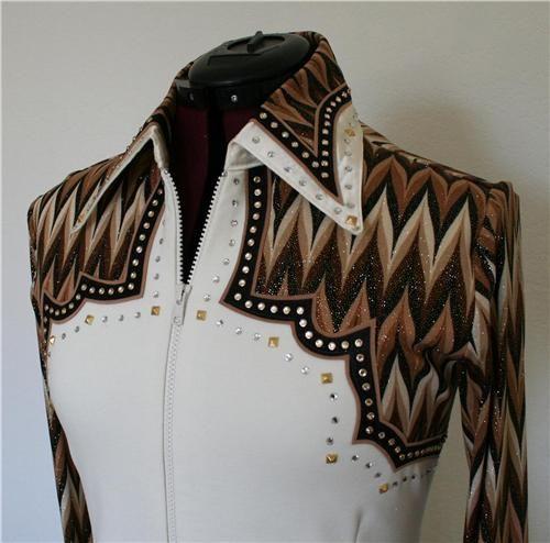 4X-LARGE  Western Showmanship Pleasure Horsemanship Show Rails Shirt Rodeo Queen