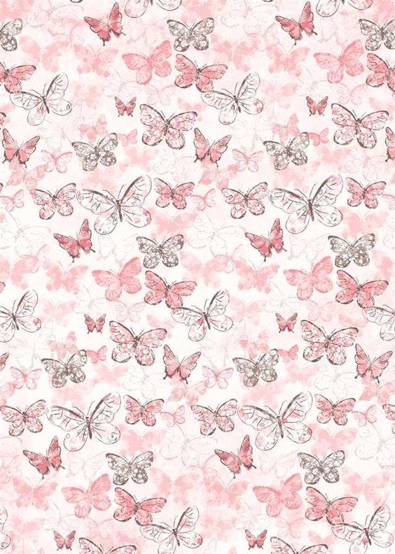 Butterflies On Pink Butterfly Background Butterfly Wallpaper Prints