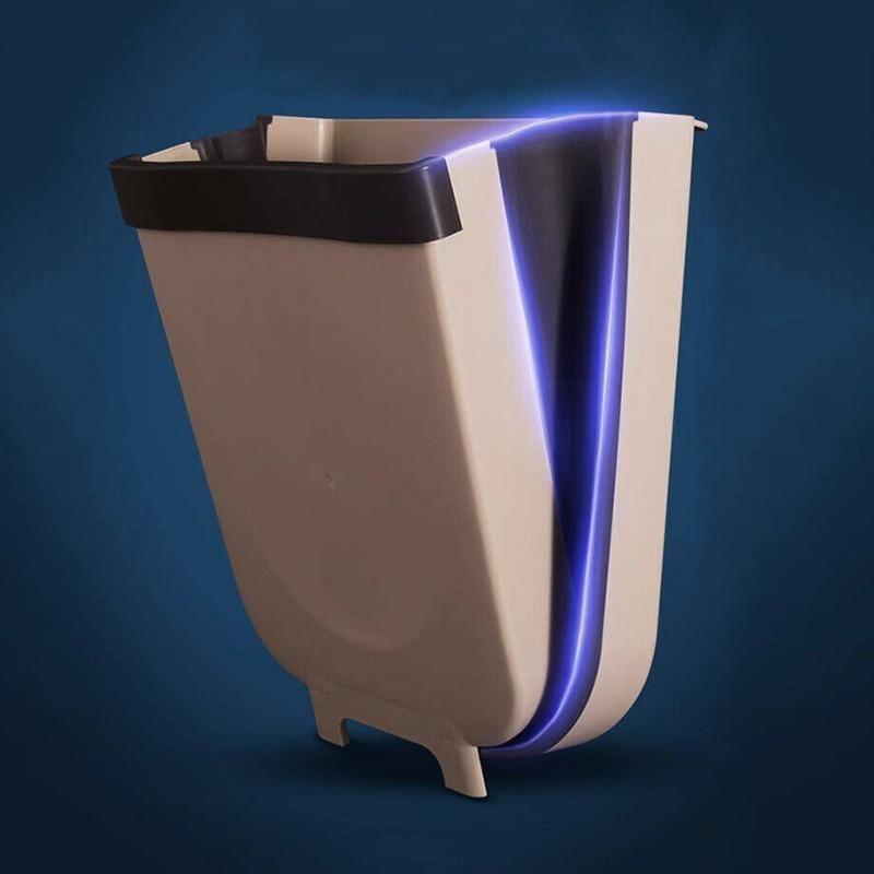 Wall Mounted Waste Bin 5l Exalt Club In 2020 Trash Can Folding Walls Kitchen Trash Cans