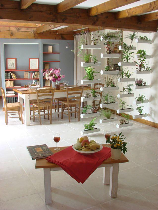 Le Rideau Vegetal Mur Vegetal Jardiniere Interieur Decoration Salon Plantes Deco Entree Maison