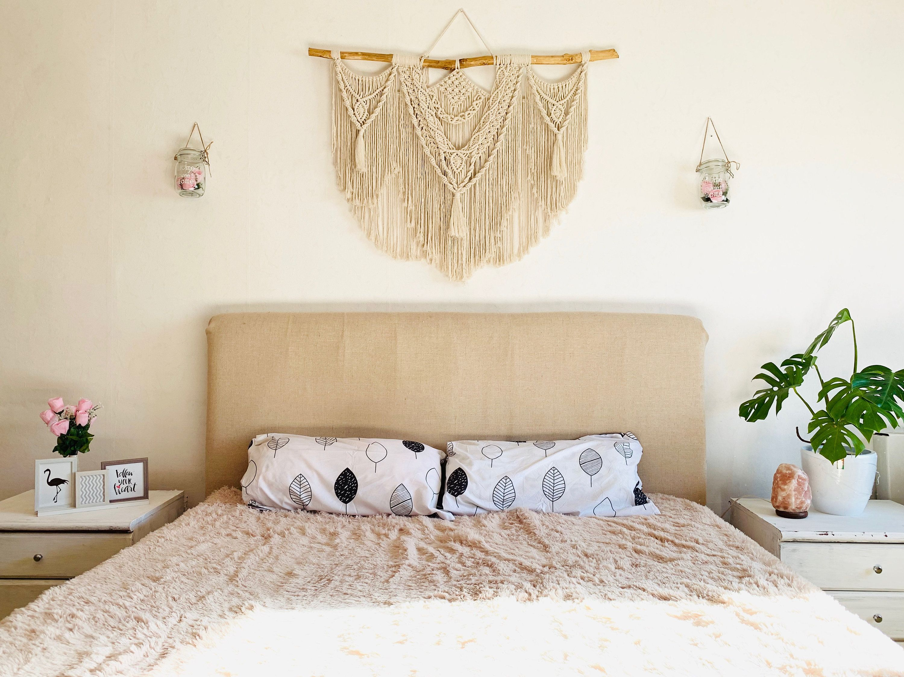 Macrame Wall Hanging Above Bed Decor Queen Tapestry King Size