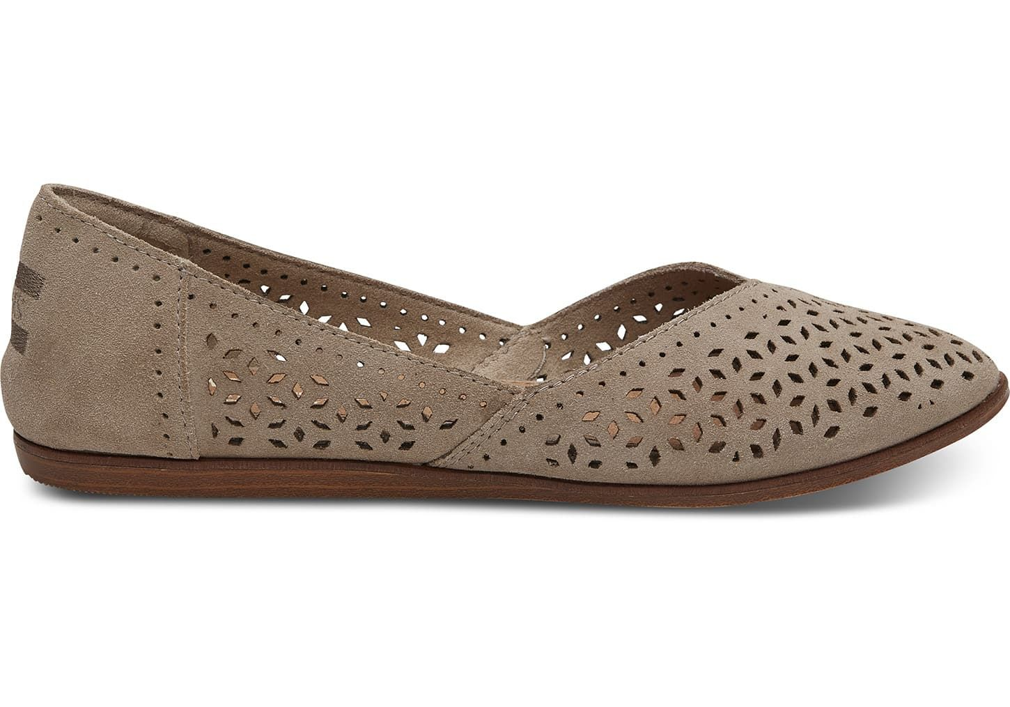 c0ef4782f76 Desert Taupe Perforated Suede Women s Jutti Flats in 2019