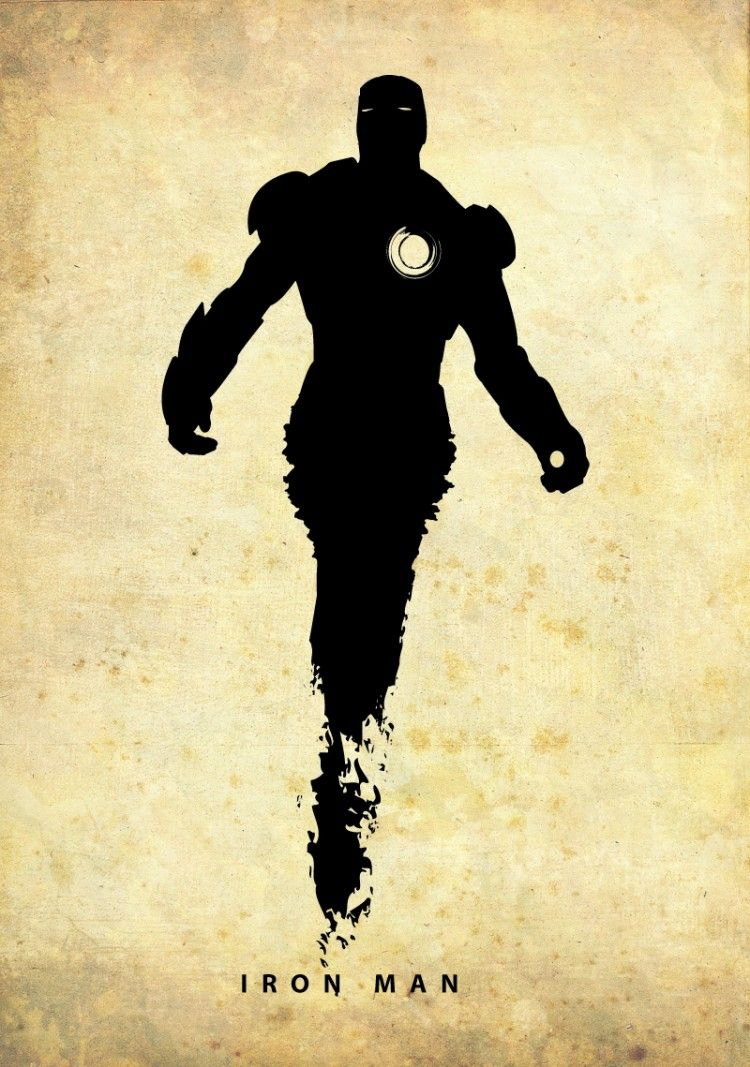 Silhouetted Superheroes Superhero Poster Marvel Iron Man Superhero