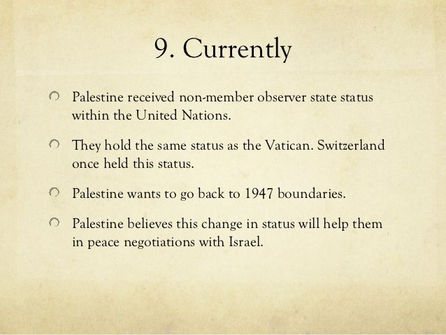 Pb Top 10 Thing About Israel Palestine Conflict Essay On Patriotism Definition What I