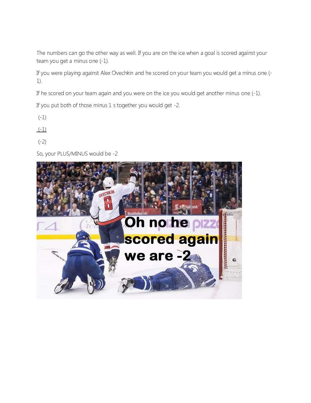 Nhl Hockey Math Worksheets