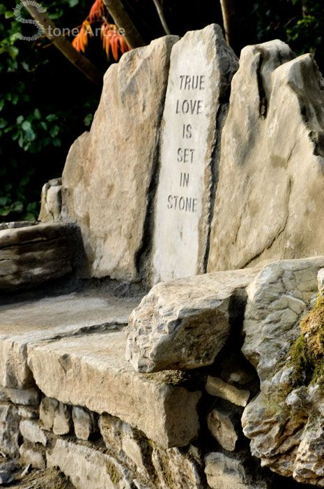 Lovers Bench Weathered Limestone Designed And Built By