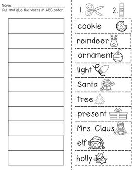christmas abc order freebie tpt freebies for winter abc worksheets christmas worksheets. Black Bedroom Furniture Sets. Home Design Ideas