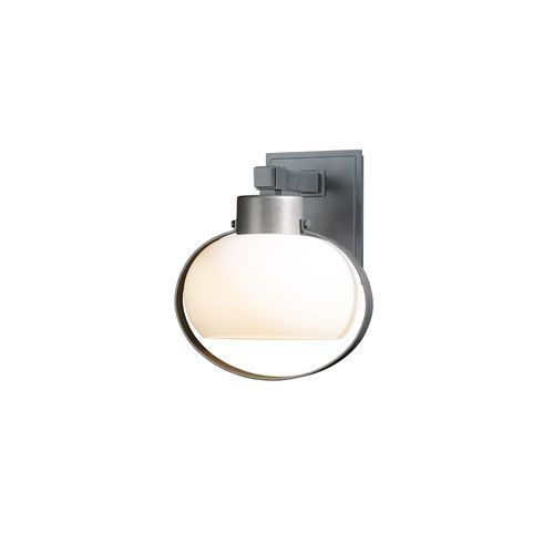 Port Natural Iron 11-Inch One-Light Outdoor Wall Sconce with Opal Glass - (In 20 - Natural Iron)