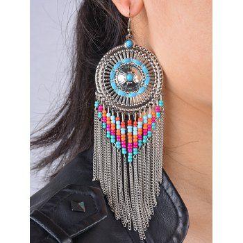 Stylish Bead Fringe Earrings