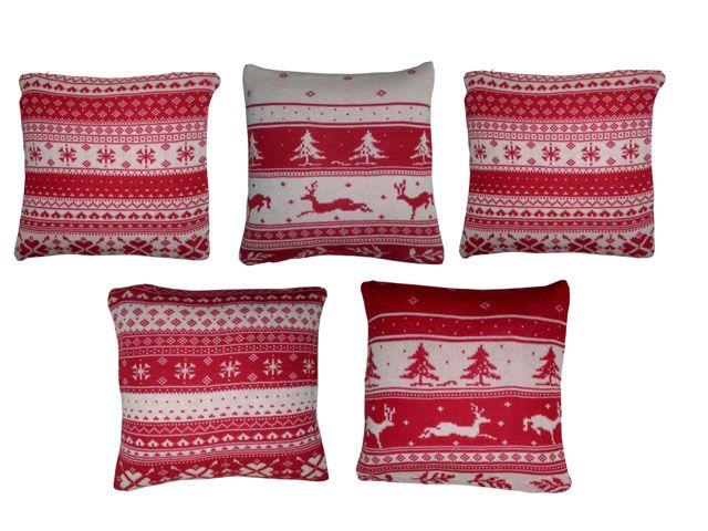 Yuletide Cushion Cover(Set of 5) | Cushions, Cushion covers