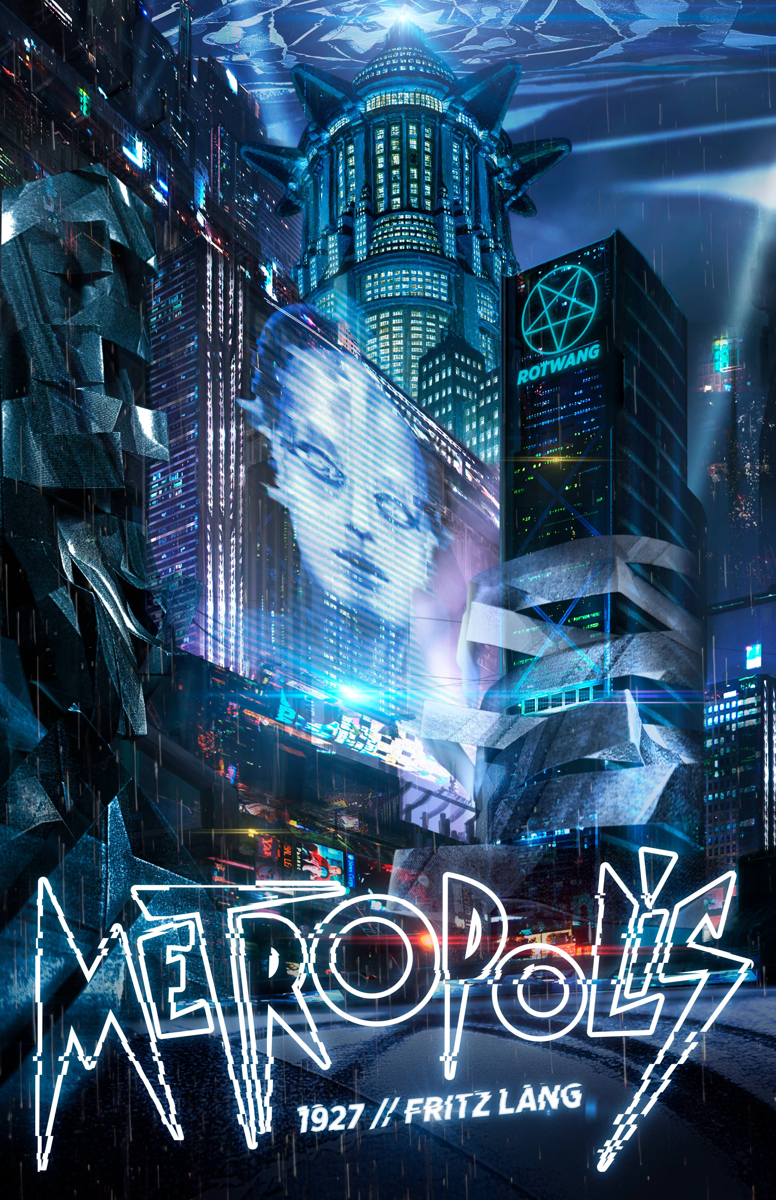 Poster I made for school a futuristic view of Metropolis by Fritz ...