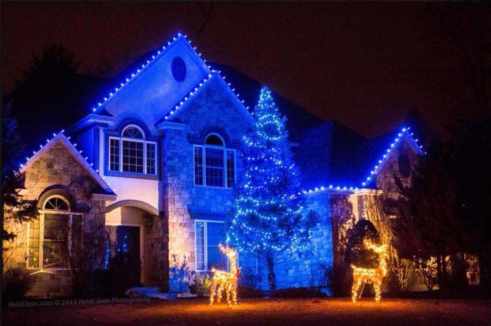 Pin By Jen Hartnett On Holiday Homes Blue Christmas Lights Christmas Lights Blue Christmas