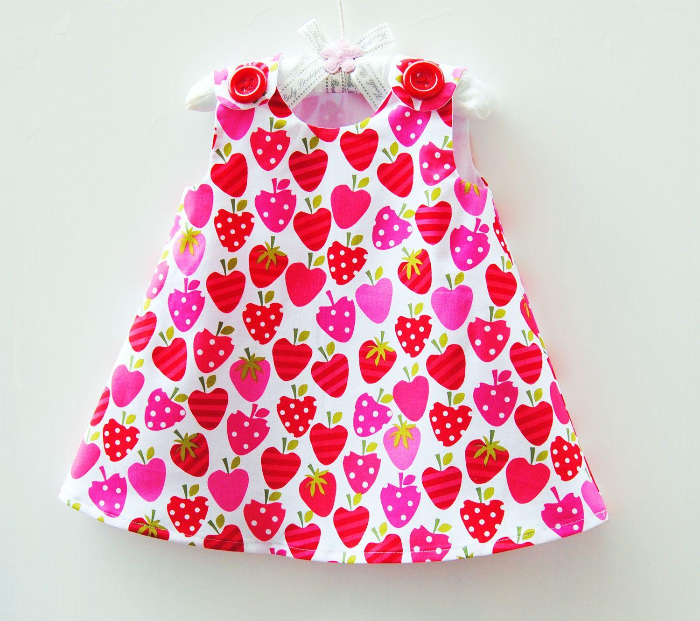 Strawberry dress toddler girls play dress girls dress strawberry dress toddler girls play dress girls dress pattern girl sewing pattern jeuxipadfo Gallery