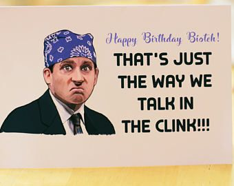 The office tv show birthday card funny birthday card michael the office tv show birthday card funny birthday card michael scott quotes dundler bookmarktalkfo Images