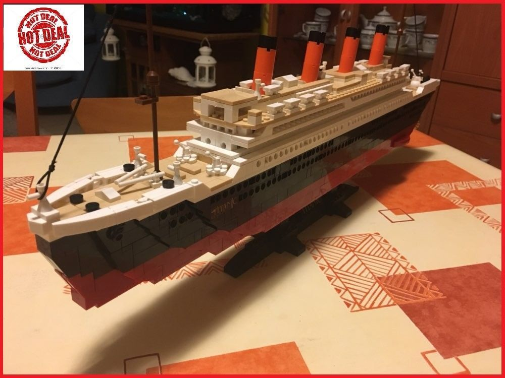Titanic Ship Building Blocks Sets Toys Boat Model Kids Gifts ...