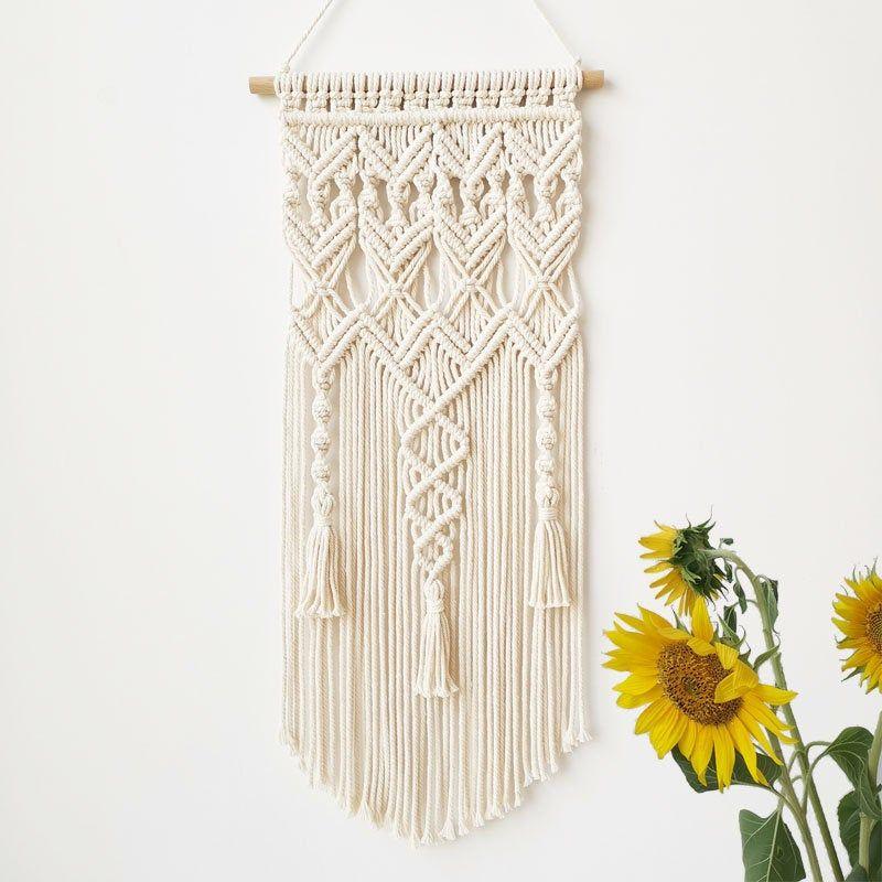 Handmade Macrame Wall Hanging Tapestry Macrame Wall Pendant Home Decor