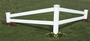 Corner Fences Designs Pvc Post And Rail Description
