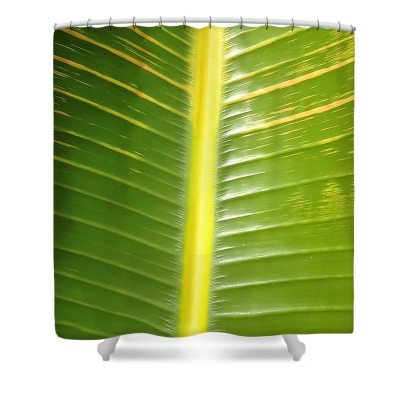 Banana Leaf Shower CurtainDesigned Nature CurtainGreen Yellow DecorBohemian Bathroom DecorTropicalBoho ChicFloral Curtains