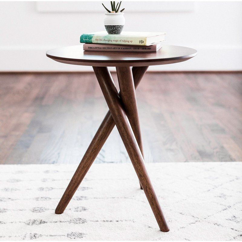 Turcotte 3 Legs End Table End Tables Modern End Tables Side Table Wood