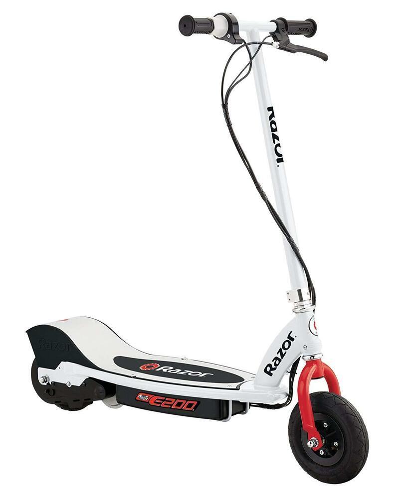 Advertisement Ebay Electric Scooter Razor E200 White Quiet