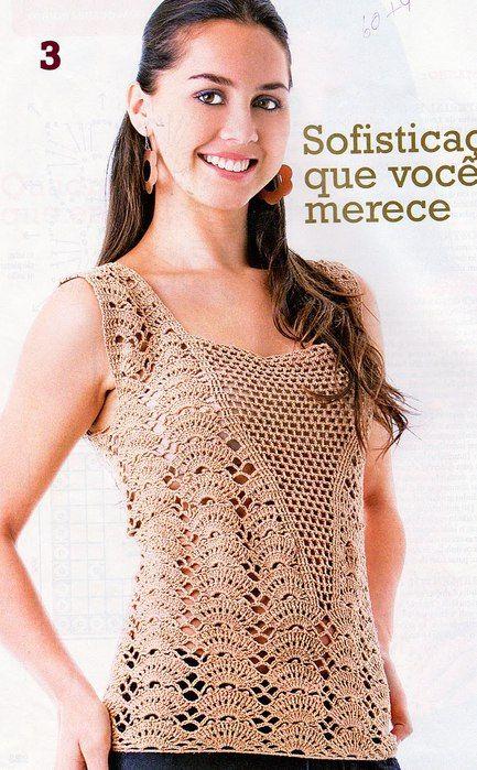 Blusas japonesas tejidas en crochet - Imagui