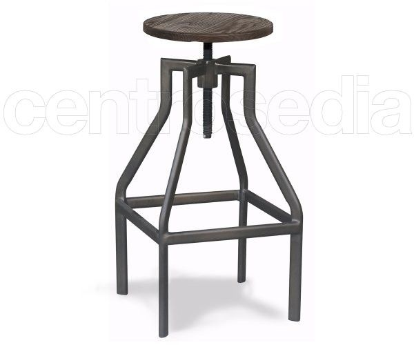 Oregon sgabello alto metallo old style sedie stool chair e bar