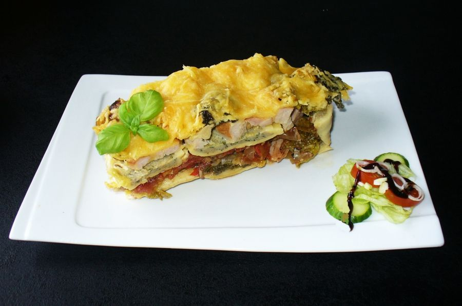 Maultaschen-Lasagne