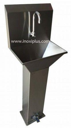 Lavamanos de pedestal para montar a pared y fijar base y for Lavamanos con pedestal
