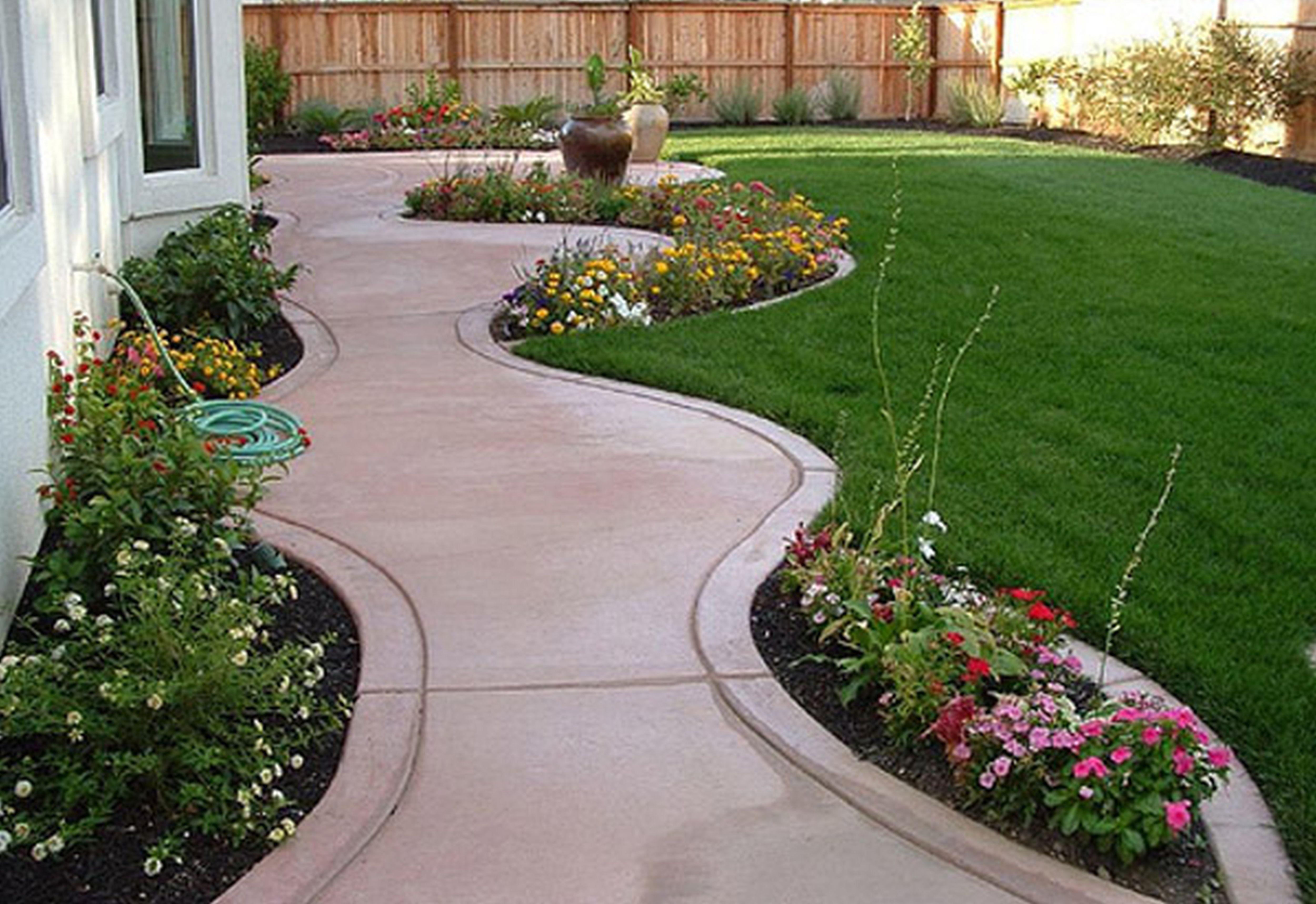 concrete backyard garden ideas amp landscaping creative with ideas
