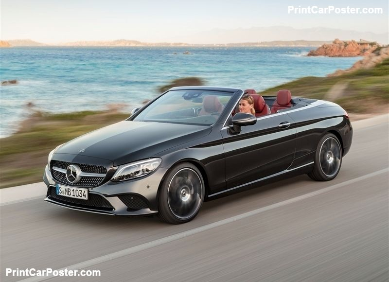 Mercedes Benz C Class Cabriolet 2019 Poster With Images