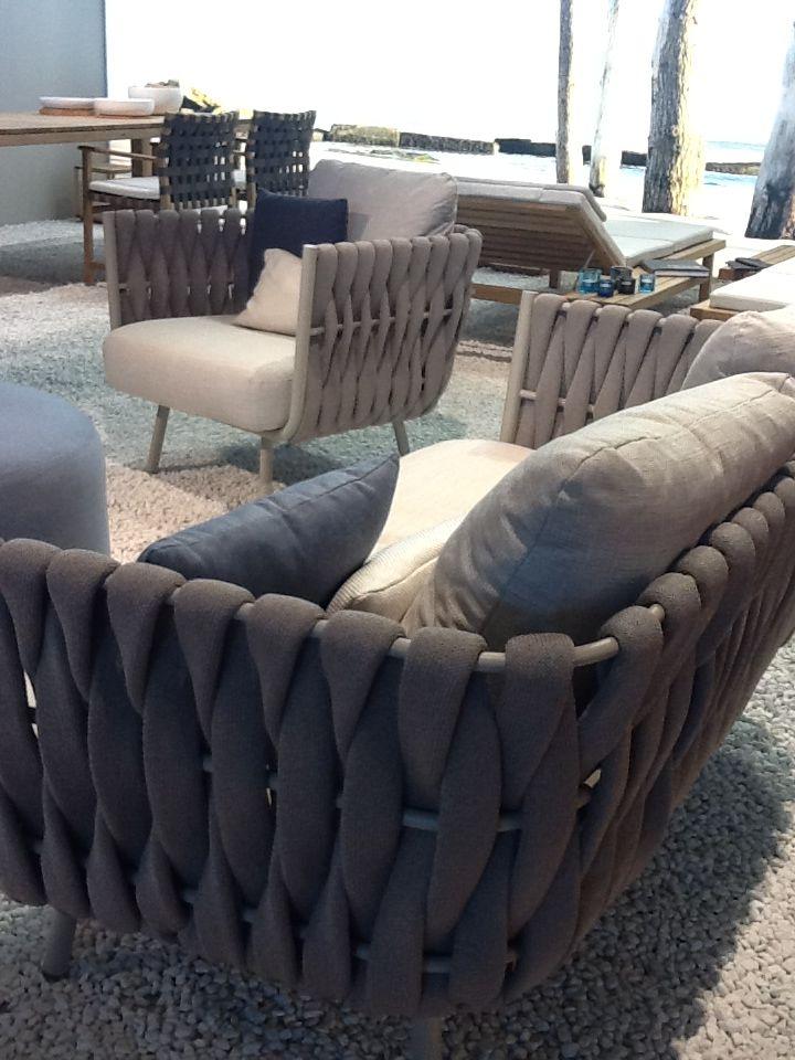 Textures creatively transform an #outdoor furniture space. #Milan2013 Furniture Fair