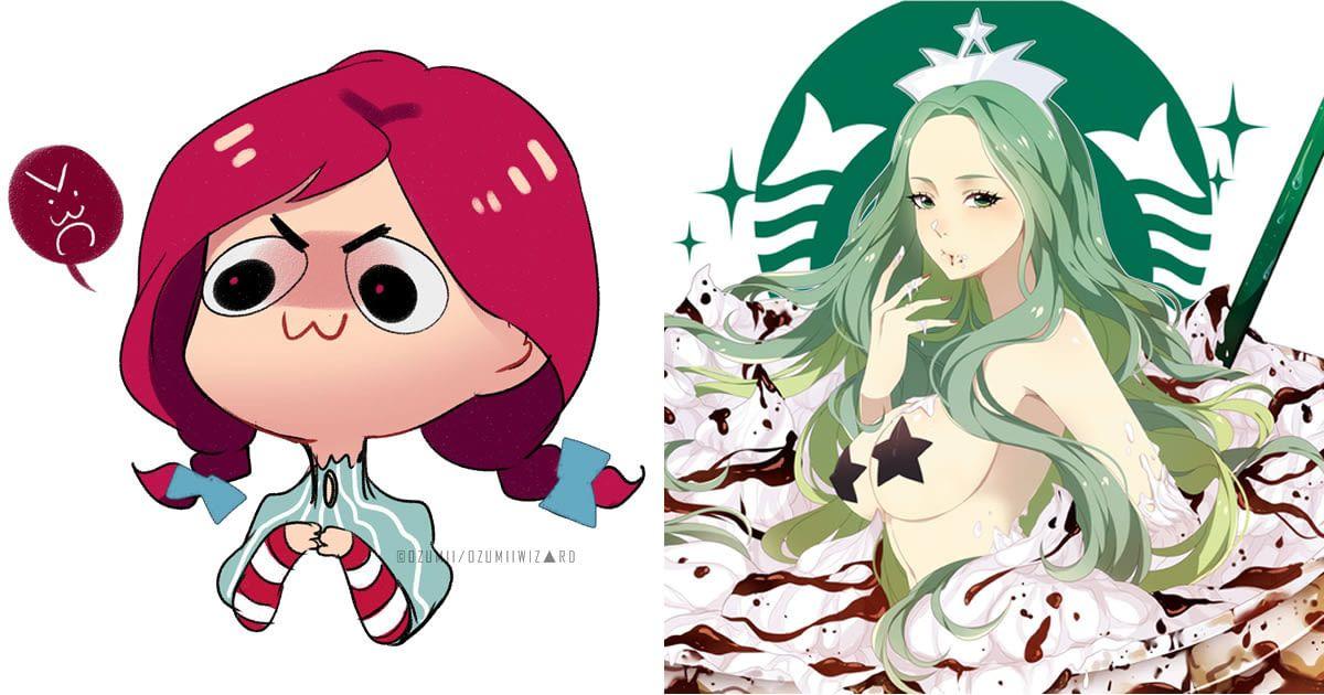 Artist transformed popular fast food chain mascots into