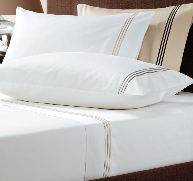 Pembroke LINEN HOUSE BOUTIQUE Features: Cotton Sateen 700 Thread Count  Satin Stitch Embroidered Headers Superb