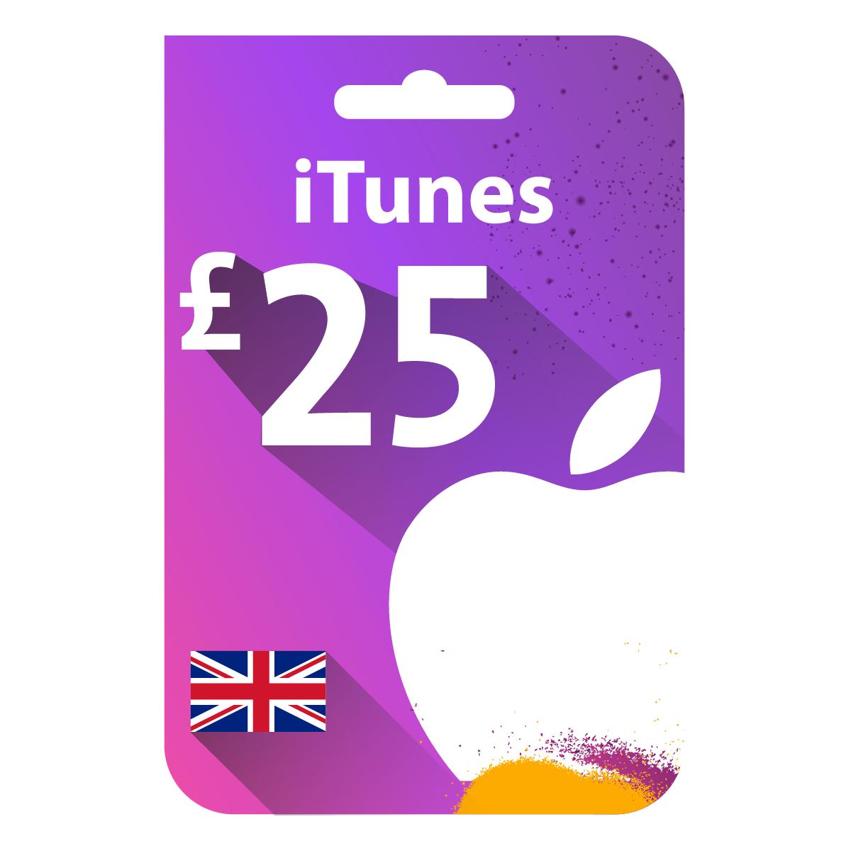 بطاقة أيتونز Gbp25 المتجر البريطاني Gift Cards Uk Itunes Gift Cards Gift Card