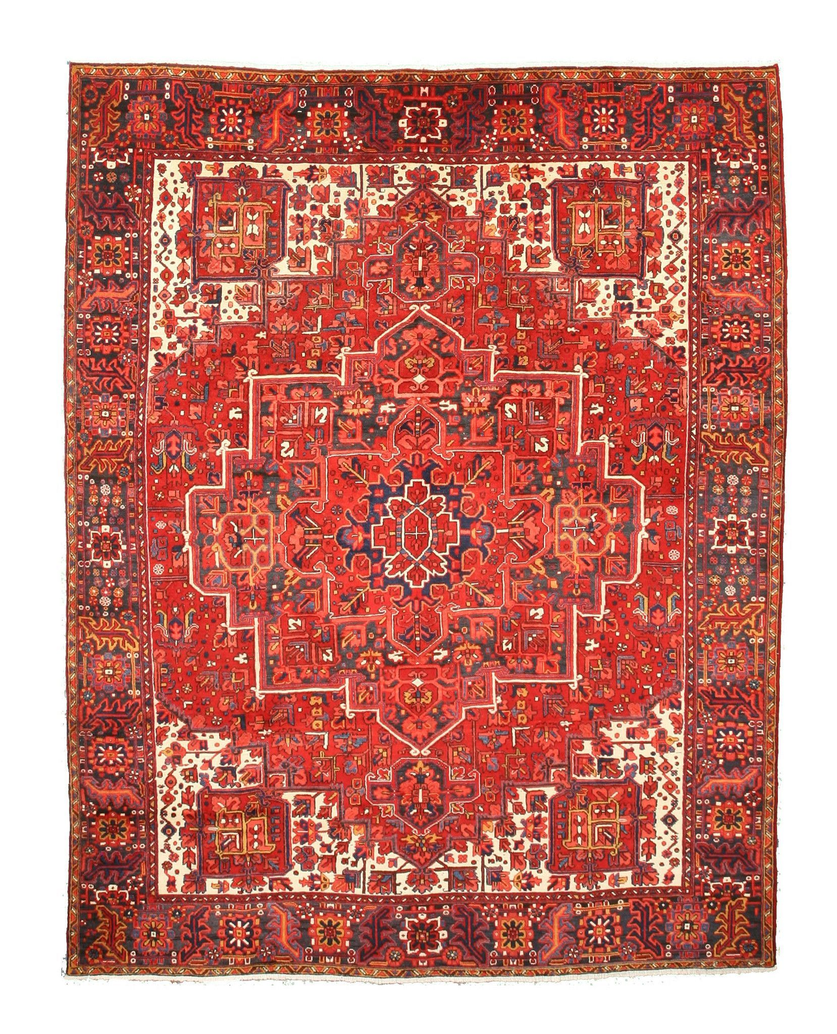 Rust Traditional Heriz Rug 10 2 X 12 10 Rugs Colorful