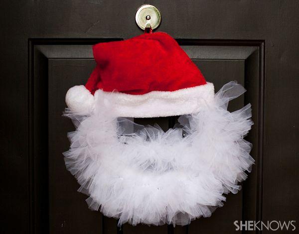 Tulle Santa Wreath - super cute, super easy
