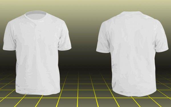 Photoshop Men Basic T Shirt Template Kaos Vintage Outfits Desain