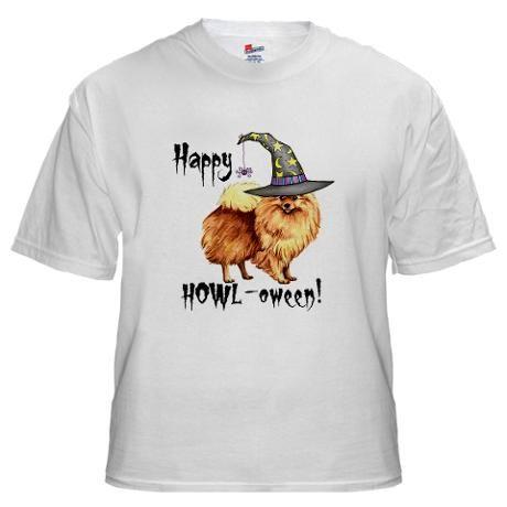 419b53b82 Halloween Pomeranian White Men's Classic T-Shirts | The Pomeranian ...