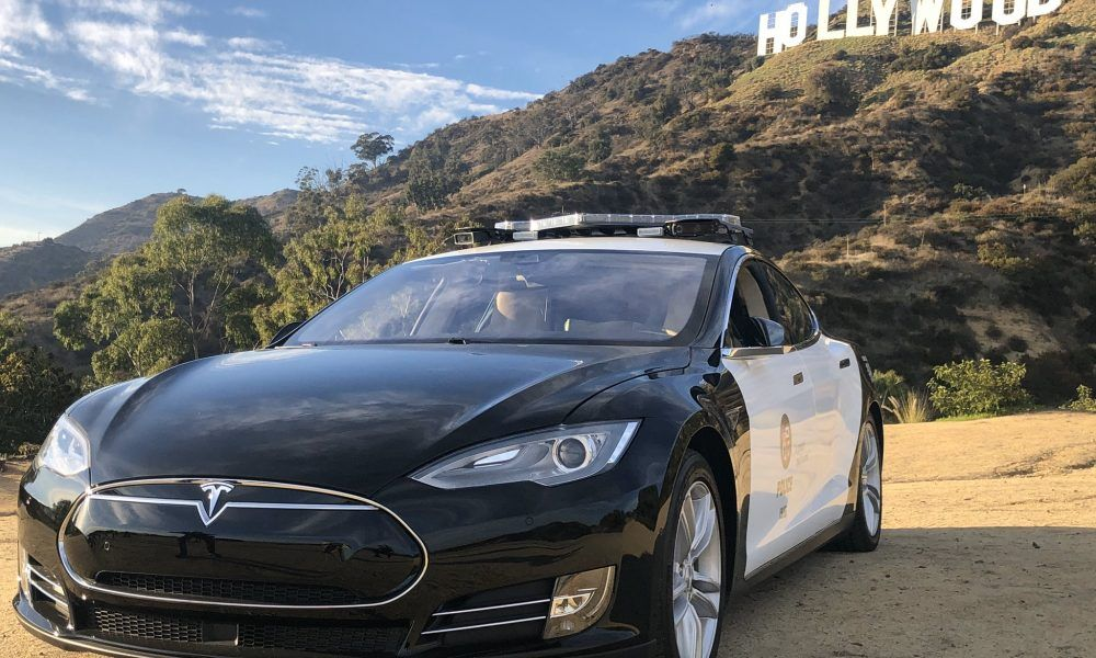 Tesla Model S becomes LAPD Hollywood Division's latest patrol car