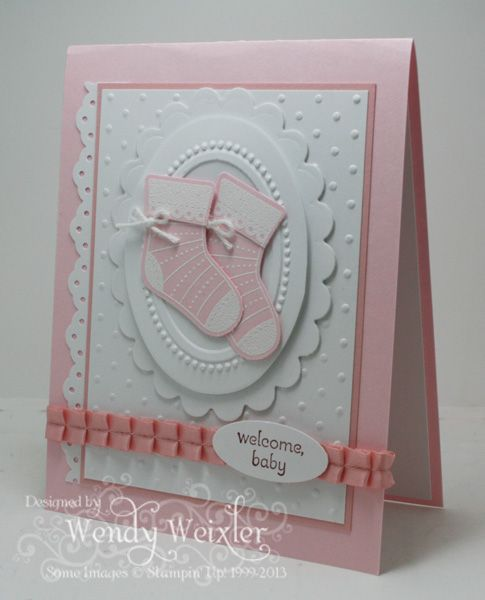 Baby Bootie Card
