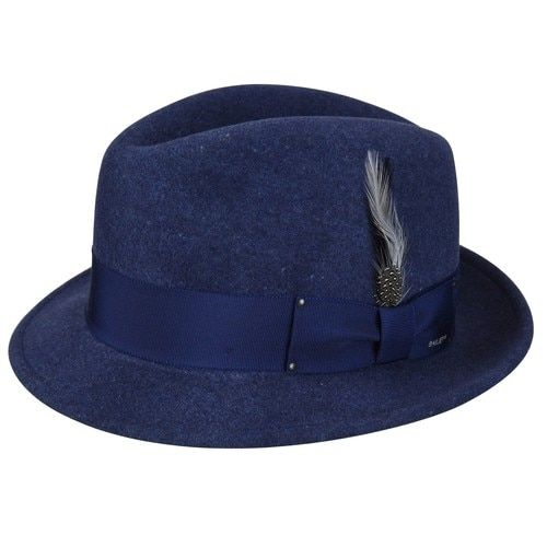 Men s Fedora Hat -Tino by Bailey of Hollywood Color Navy  20d6eb6f3bc