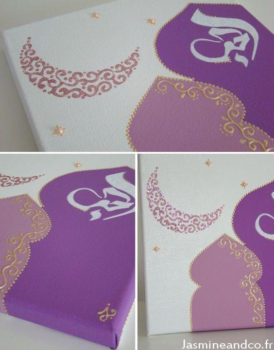 Tableau porte orientale diy déco oriental door painting