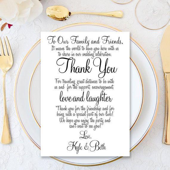 Wedding Thank You Card Thank you Card Thank you by AModernSoiree