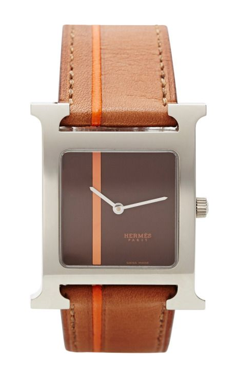 5556b775ec1 Hermes H Hour In Brown by Portero - Moda Operandi