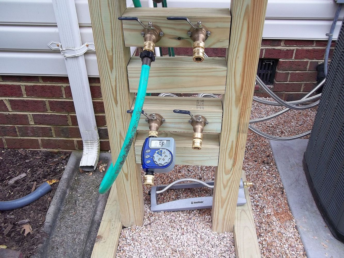 Hose Reel solution for yard and garden,outdoor faucet extension ...