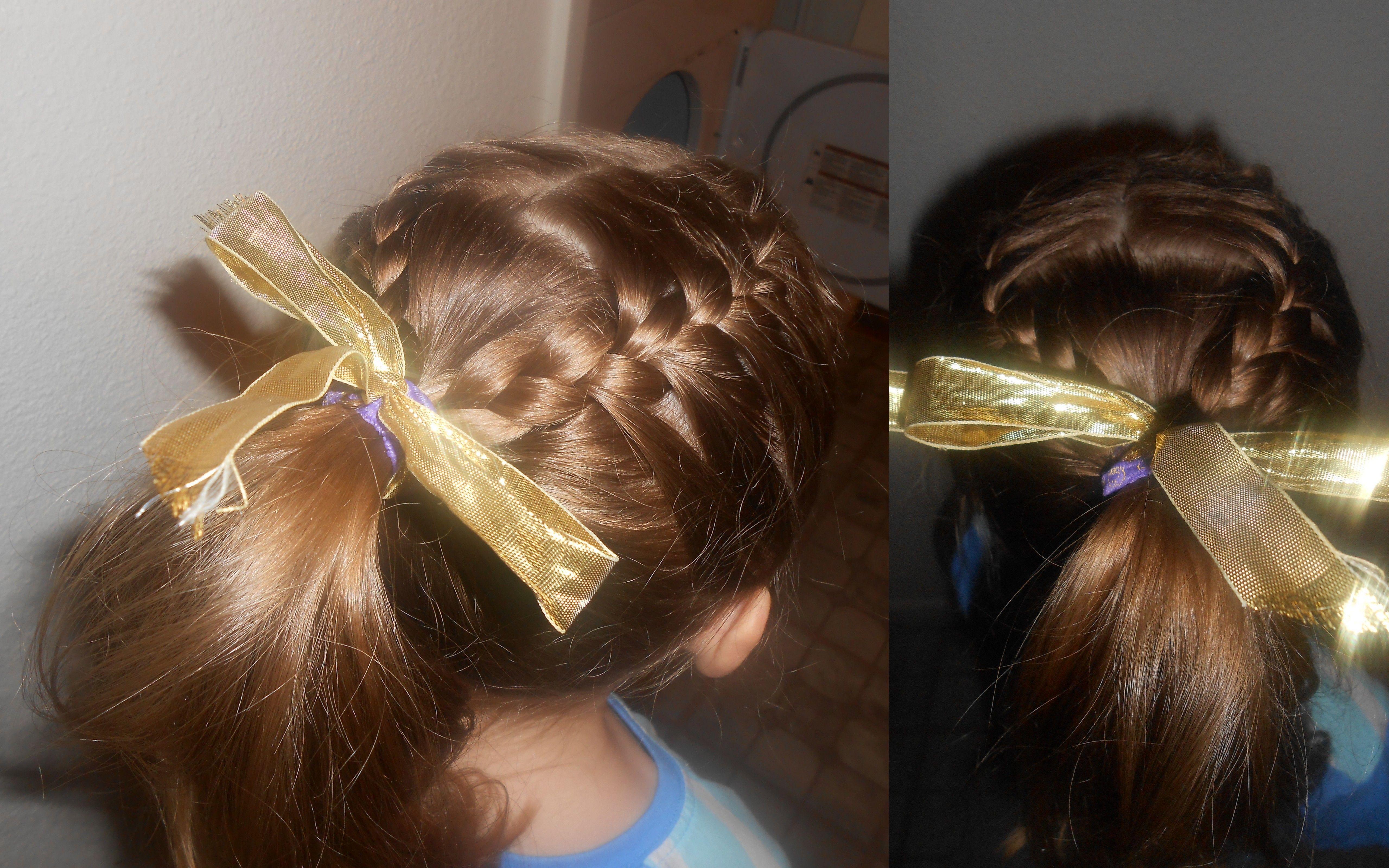 2 French Braid Into A Ponytail Hair Dos Hair Styles Hair
