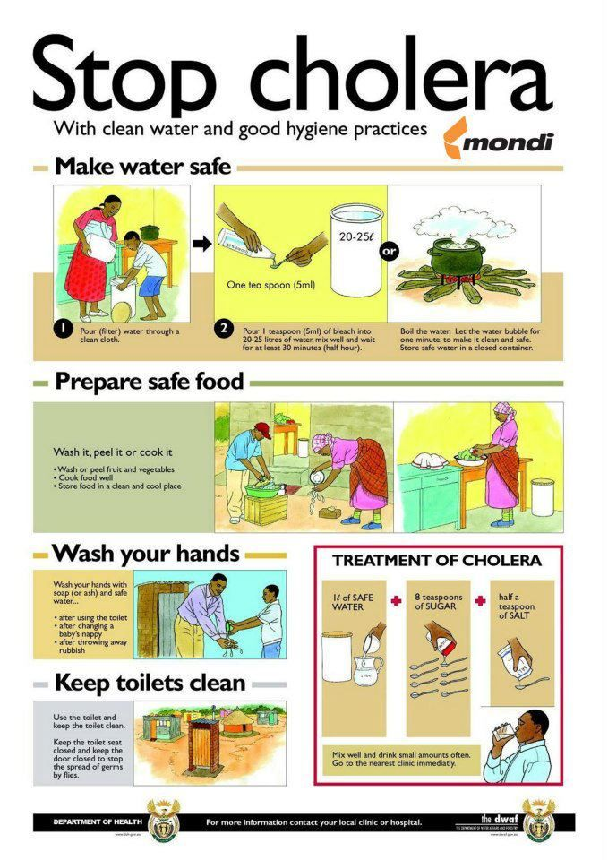 make water safe and clean, perpare safe food, reduce pollution and be hygenic