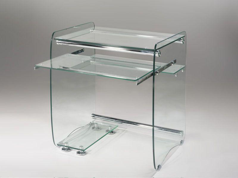 Mesa de cristal oficina para ordenadores computadoras decoraci n pinterest mesas de - Mesas de metacrilato ...