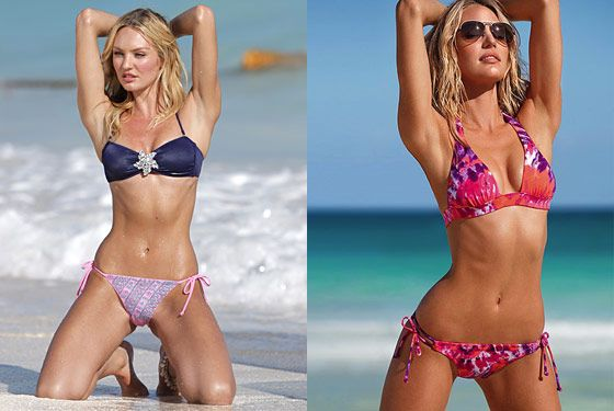 Candice Swanepoel Before and After a Victoria's Secret ...
